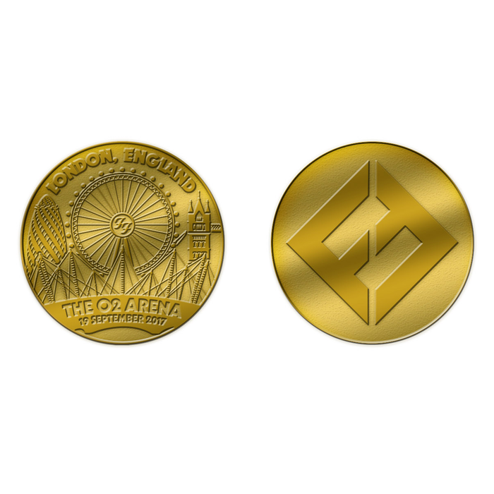 Gold Event Coin (London O2) - Foo Fighters UK
