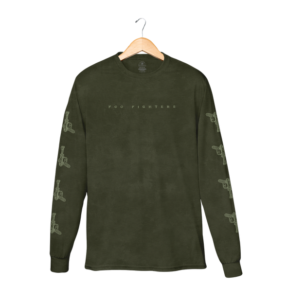 Self-Titled Military Green Crystal Wash Longsleeve