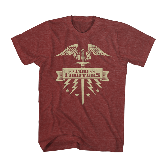 Sword Tee (Red) - Foo Fighters UK