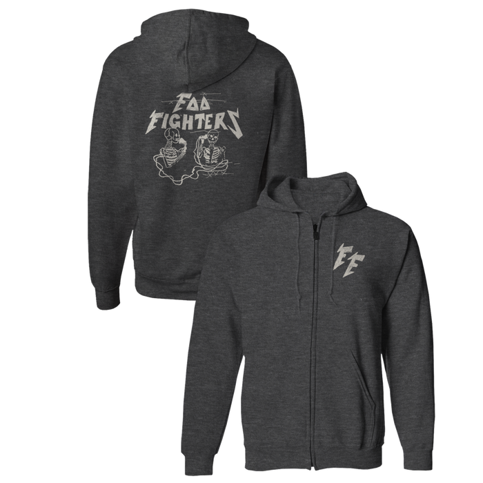 Hersher Sketch Zip-Up Hoodie - Foo Fighters UK