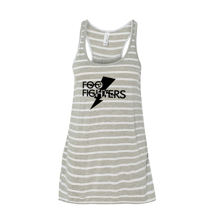 Bolt Flowy Racerback Tank - Grey Stripe - Foo Fighters UK