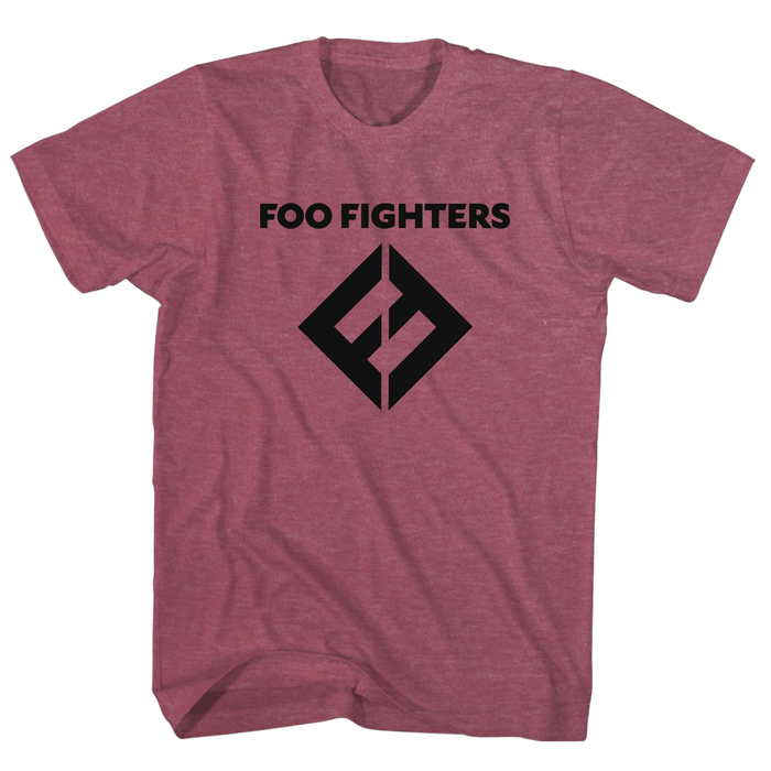 FF Equals Logo Tee (Heather Burgundy) - Foo Fighters UK