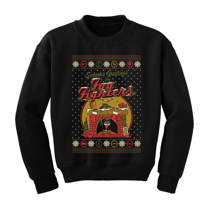 Holiday Fireplace Crewneck - Foo Fighters UK