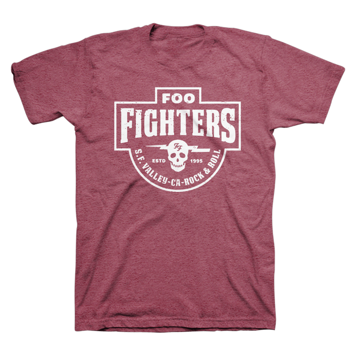 Insignia Tee (Heather Burgundy) - Foo Fighters UK