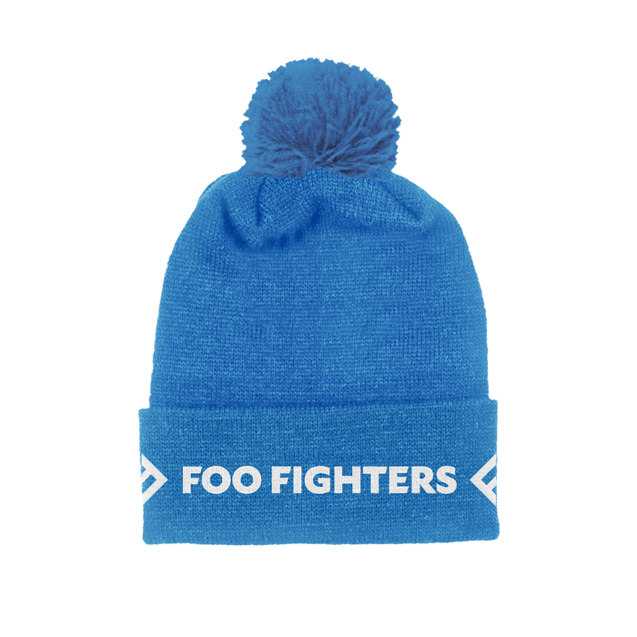 Blue Foldover Beanie - Foo Fighters UK