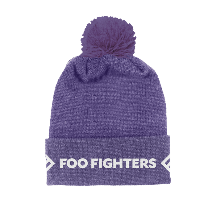 Purple Foldover Beanie - Foo Fighters UK
