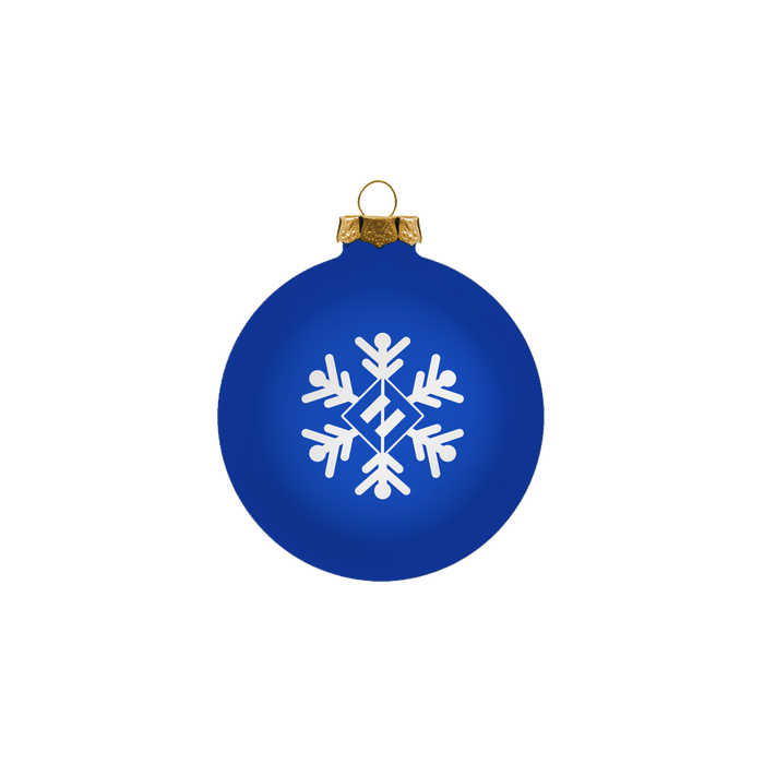 Blue Snowflake Ornament