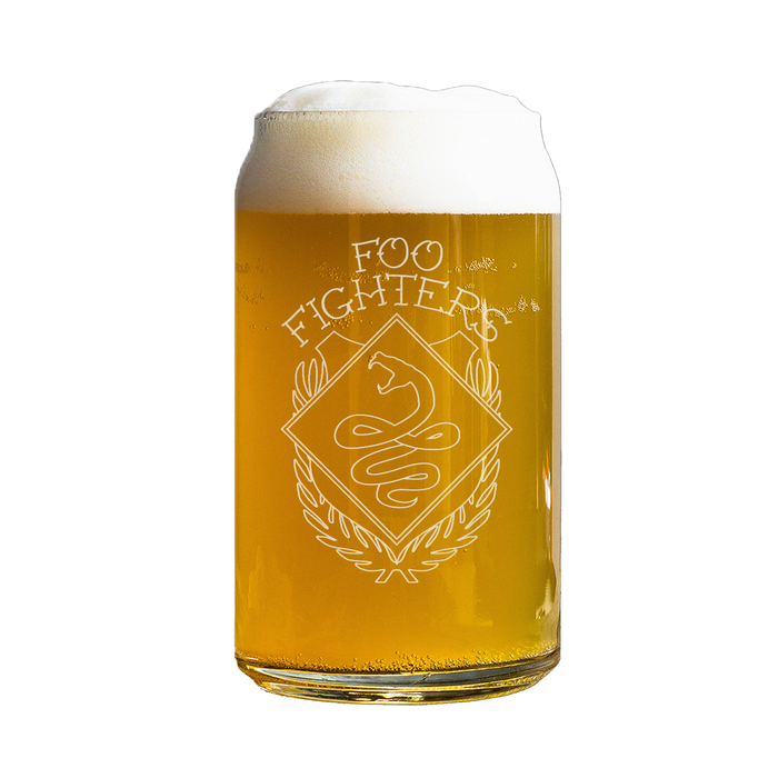 Snake Beer Can Glass - Foo Fighters UK