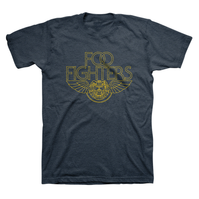 Tiger Wings Tee (Heather Navy) - Foo Fighters UK