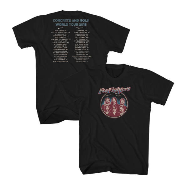 Classic World Tour Tee (Black) - Foo Fighters UK