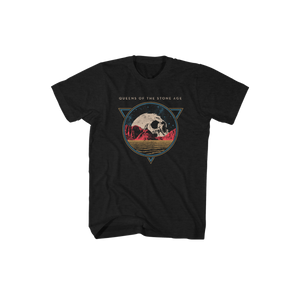 Planet Skull Euro Itin Black Tee - Queens of the Stone Age UK