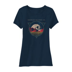 Planet Skull Tee (Navy) - Queens of the Stone Age UK