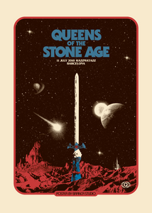 Barcelona, Spain Event Poster - Queens of the Stone Age UK