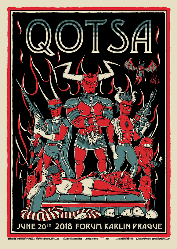 Prague, Czech Republic Event Poster - Queens of the Stone Age UK