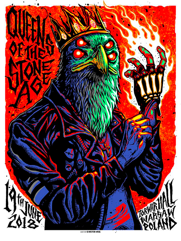 Warsaw, Poland Event Poster - Queens of the Stone Age UK