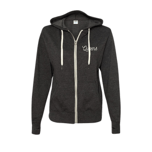 Snake Logo Zip-Up Hoodie - Charcoal Heather - Queens of the Stone Age