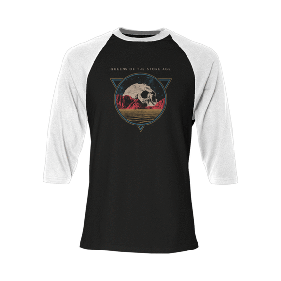 Skull Black & White Raglan - Queens of the Stone Age UK