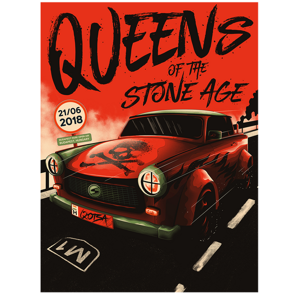 Budapest, Hungary Event Poster - Queens of the Stone Age UK