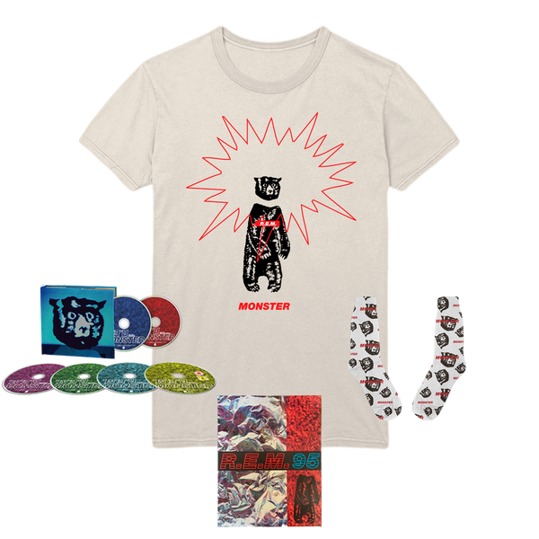 Monster 25th Anniversary Media + T-Shirt + Program + Socks - REM UK