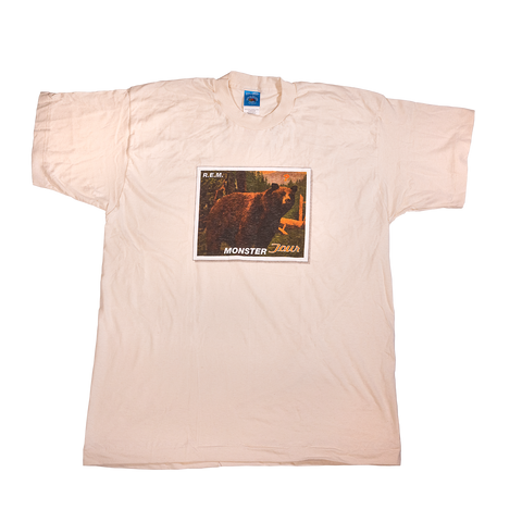 Tan Bear & Postage Stamp Tee - REM UK