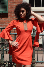 Elegant european orange Dress
