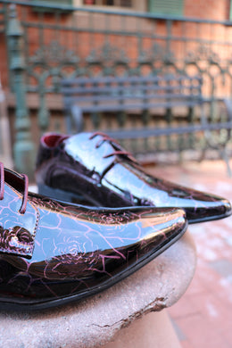 Midnight Burgundy Italian Dress Shoes