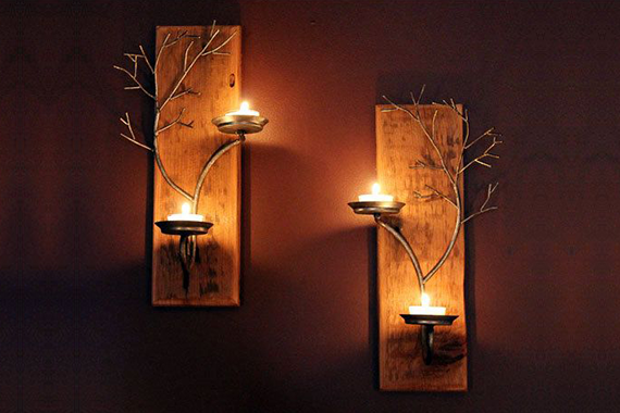 Wall candle holders - How to use it?
