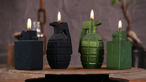 GRENADE AND LIGHTER CANDLE