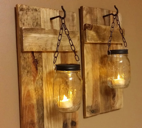 Mason Jar Wall Candle