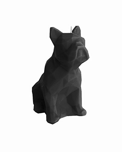 Dog Poly Candle Black