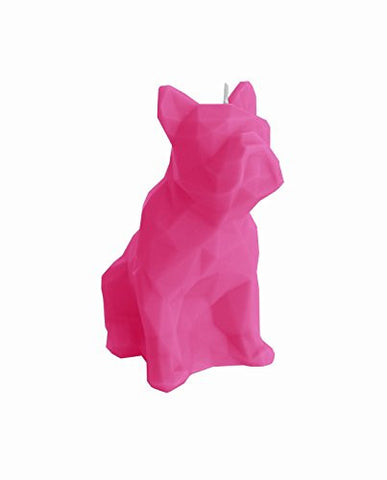 Dog Poly Candle Fuschia