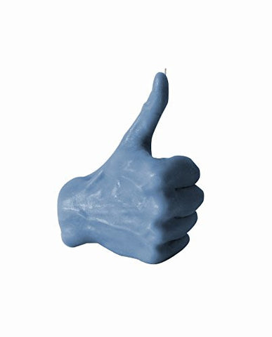 Thumbs Up Fingers Candle-Blue Denim