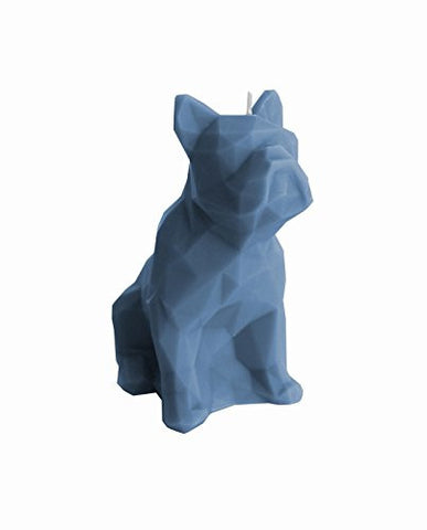 Dog Poly Candle Blue Denim
