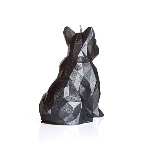 Dog Poly Candle Graphite