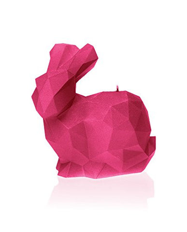Rabbit Poly Candle-Dark Pink