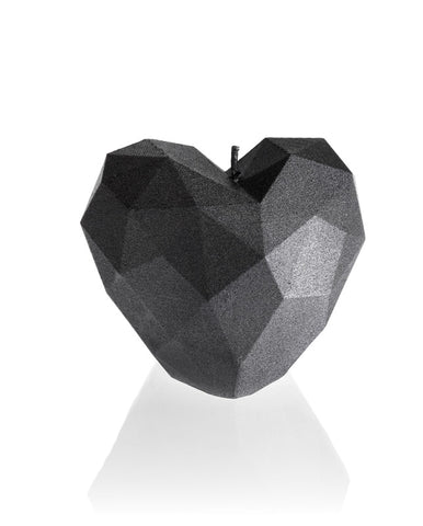 Heart Poly Candle Steel