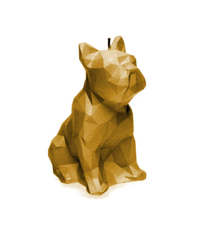 Dog Poly Candle Gold