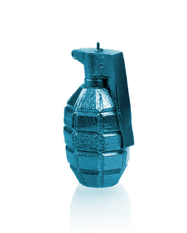 Grenade Candle Blue Metallic