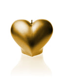 Heart Candle-Gold