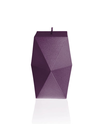 Geometric Candle Violet
