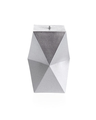 Geometric Candle Silver
