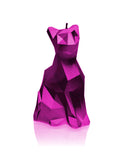 Cat Poly Candle Pink