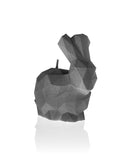 Bunny Poly Candle Gray