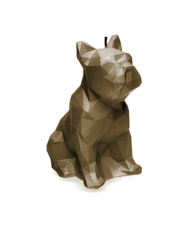 Dog Poly Candle Brass
