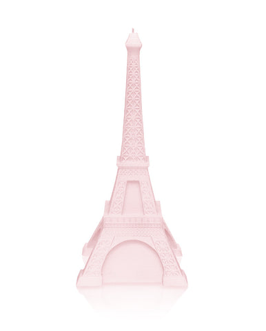 Eiffel Tower Candle Powder Pink