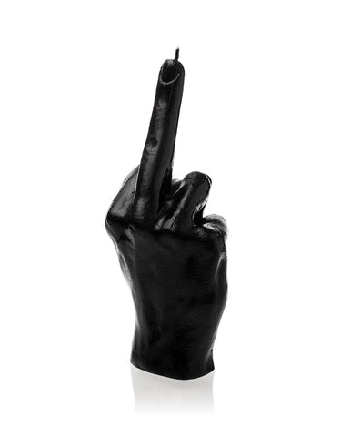 Middle Finger Candle-Black Glossy