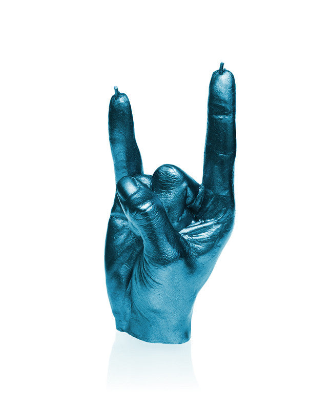 Rock n Roll Fingers Candle-Blue Metallic