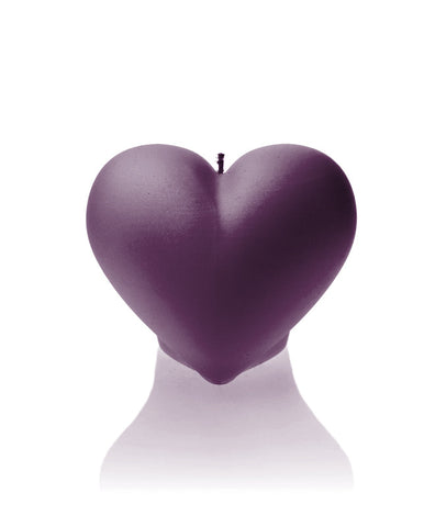 Heart Candle Violet