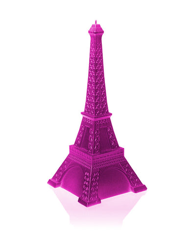 Eiffel Tower Candle Pink Glossy
