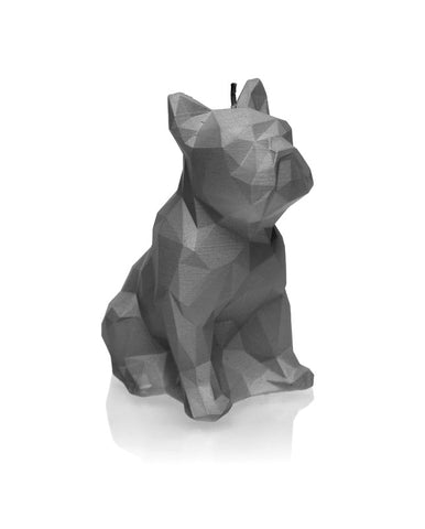 Dog Poly Candle Gray